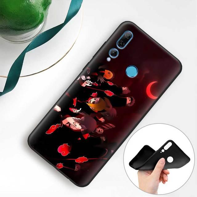 Naruto Kakashi japoński anime czarne silikonowe przypadki dla Huawei Y5 Y6 Y7 Y9 2019 Y9s P30 Pro Honor 20 Lite zagraj telefon skrzynki pokrywa