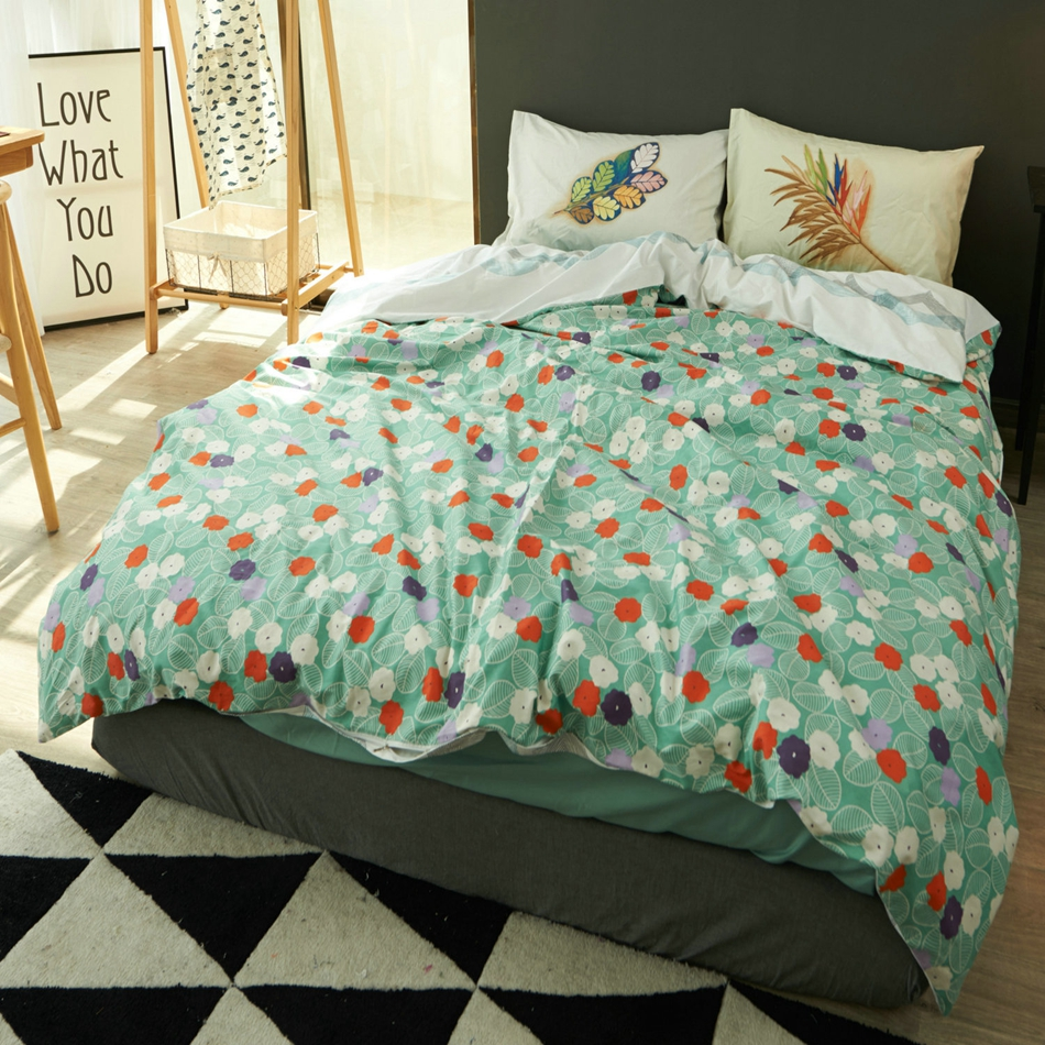 online get cheap green nature bedding aliexpresscom  alibaba group - pcs cotton duvet cover setbedding set light green colorful floral quiltcover soft comfortable