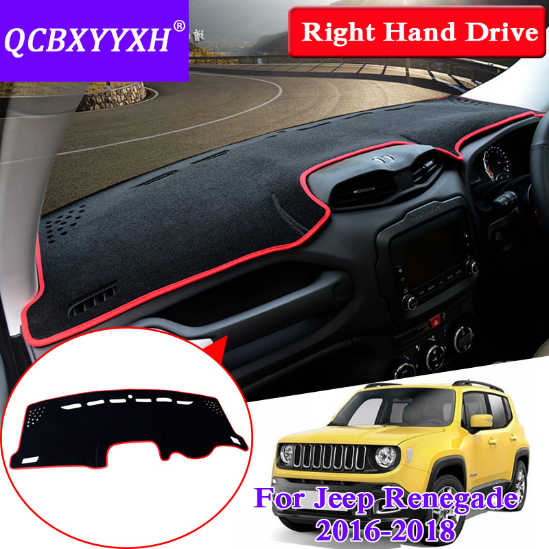For Jeep Renegade 2016 2018 Right Hand Drive Dashboard Mat Protective Interior Photophobism Pad Shade Cushion