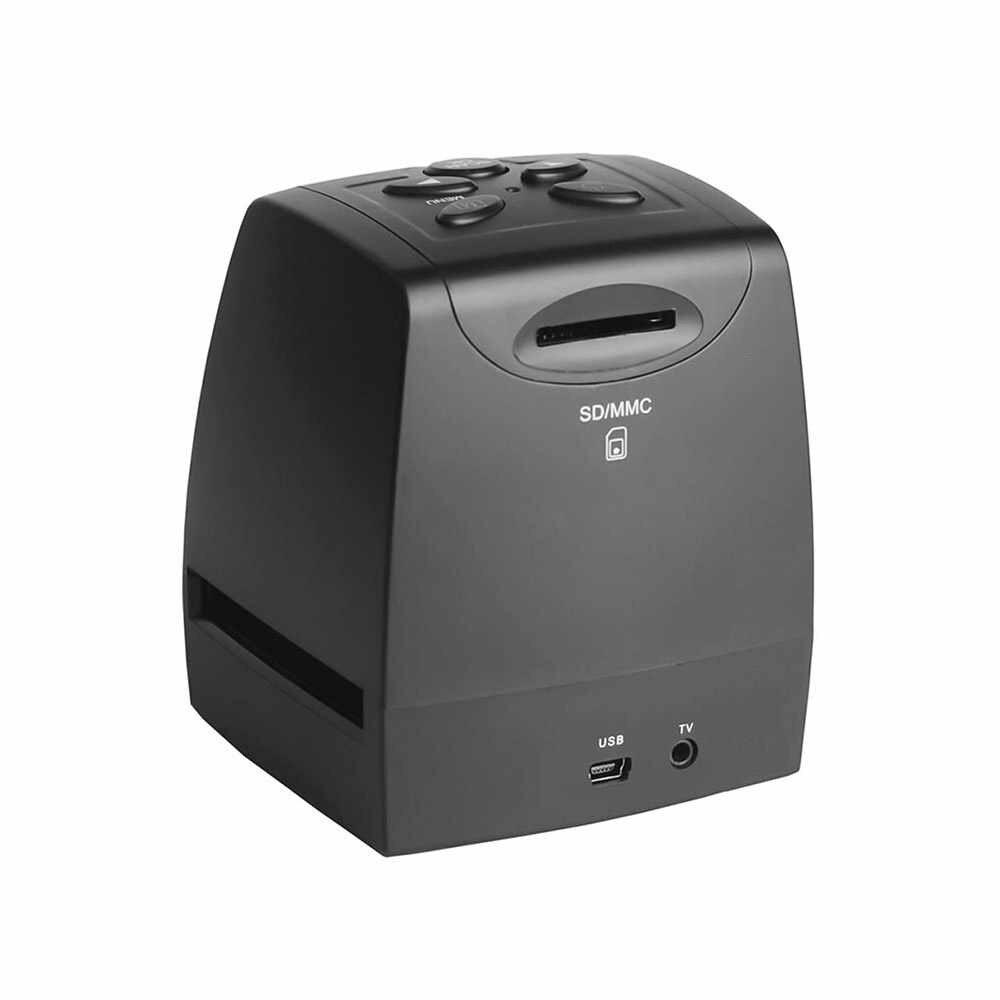 """Переносной сканер с отрицательной пленкой 35 мм 135 мм слайд-адаптер Фото Цифровой Просмотр изображений с 2,4 """"ЖК-встроенным программным обеспечением для монтажа"""