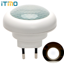 ITimo LED Night Light Plug in Wall Lamp Indoor Lighting Socket Lamp Luminaire With Motion Sensor