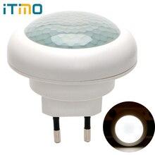 ITimo LED Night Light Plug-in Wall Lamp Indoor Lighting Socket Lamp  Luminaire With Motion Sensor Energy Saving EU Plug