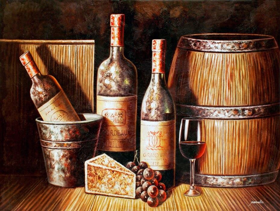 Livraison gratuite lot ensemble rouge bouteille de vin peinture l 39 huile encore vie cave vin - Application cave a vin gratuite ...