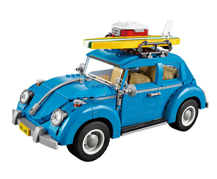 LEPIN City Street Creators Volkswagen Beetle Model Building Blocks Kits Toys For Children  Marvel Compatible Legoe lepin city creator 3 in 1 beachside vacation building blocks bricks kids model toys for children marvel compatible legoe