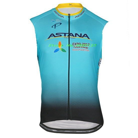 921b05b36e4 WINDSTOPPER WINDPROOF 2017 ASTANA PRO TEAM BLUE GILET SHORT SLEEVELESS VEST  ROPA CICLISMO CYCLING JERSEY WEAR SIZE XS-4XL