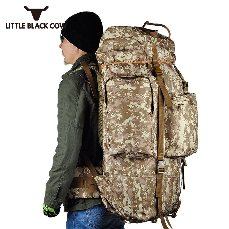 Large Capacity Army Bag Mountaineer Bag 100L Big Camp Travel Camouflage Backpack Waterproof Cover Military Knapsacks Mochila new stylish outdoors military tactics bag acu cp camouflage army black men bag camp mountaineer travel duffel messenger bag