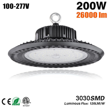 цена на LED UFO 100W 150W 200W LED High Bay lights industrial lighting Waterproof IP65 3030SMD Workshop Garage Warehouse Light