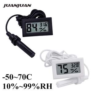 Nine Type Various Shapes Black/White Suction Cup/Sector/Round/Mini Thermometer Hygrometer Digital LCD High Quality Temperature