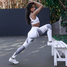 Leggings Stitching-Printing Stripes Sexy Outdoor-Sports Push-Ups Fashion Womens New