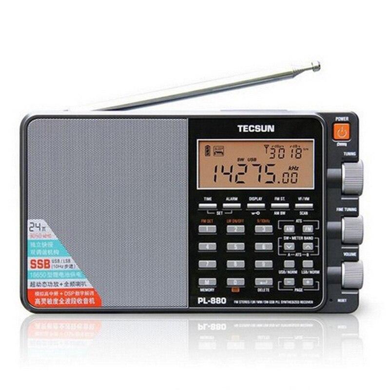TECSUN PL-880 Estéreo Portátil de Rádio Banda Completa com LW/SW/MW Modos de SSB PLL FM (64- 108 mHz) t0142