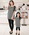 Família de pai - criança de algodão roupas família para mãe e filha, 2 peças/lote MS06