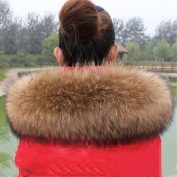 Winter Scarf Code Really Widened Raccoon Fur Collar Fox Shawl Hat Top - discount item  20% OFF Scarves & Wraps