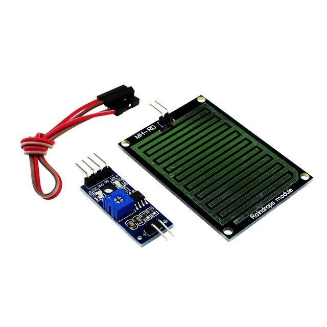 Free shipping Rain Sensor Water Raindrops Detection Module For arduino Raspberry Pi