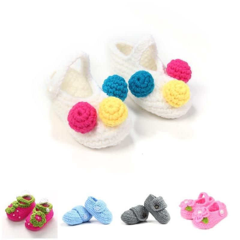 Girls Shoes Prewalker Winter Flower Crochet First Toddler Newborn Infant Boys Cute AN88