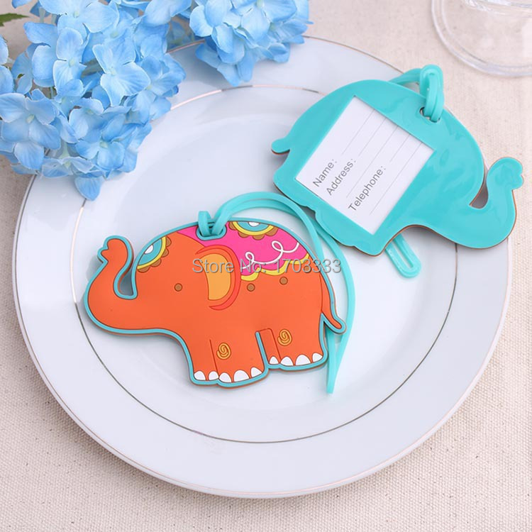 100pcs lucky elephant Luggage Tag wedding baby shower party Favor guest gifts DHL Fedex Free Shipping #TD365