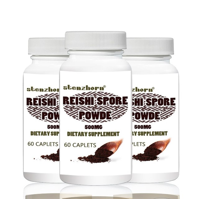 reishi 500mg 60pcs X 3B Altogether 180 units Improves Liver Function and Detoxification Promotes Heart Health