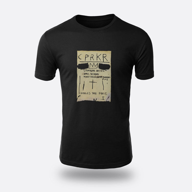 Jean Michel Basquiat CPRKR Tees Mens Black S-3XL T-shirt Design Style New Fashion Short Sleeve T Shirt Men Summer