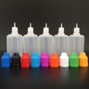 Image 4 - 1000 stücke 50ml PE Weiche Leere Kunststoff Dropper Flasche mit Kind proof Caps und lange dünne tipps E flüssigkeit nagel Gel Nachfüllbare Flasche