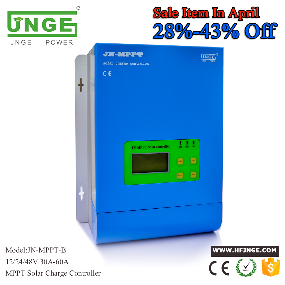 JN-MPPT 40A Solar Controller MPPT Solar Charge Controller 12V 24V 48V MPPT Solar Panel Battery Regulator with Max. 150V PV input ce rohs mppt solar charge controller mppt 60a 12v 24v 48v to maximize the efficiency of solar panel system