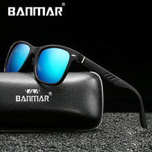BANMAR Fashion Polarized Sunglasses Men TR90 Luxury Brand Designer Vintage Al-Mg Driving Sun Glasses Male Goggles Shadow UV400