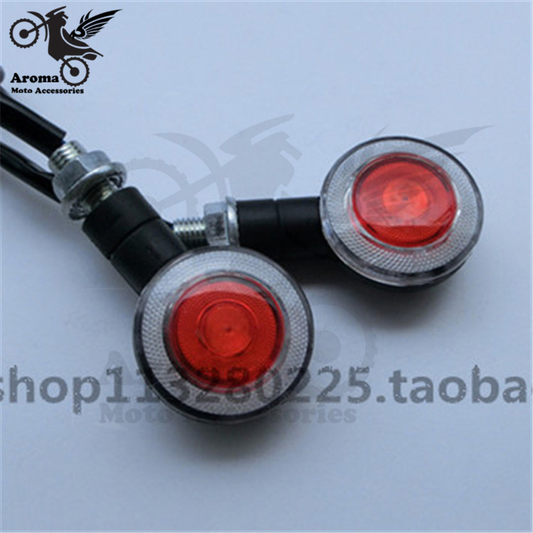 roung motorcycle Turn signal light motorbike LED motocross indicator ATV Off-road moto flashers dirt pit bike scooter Front Rear