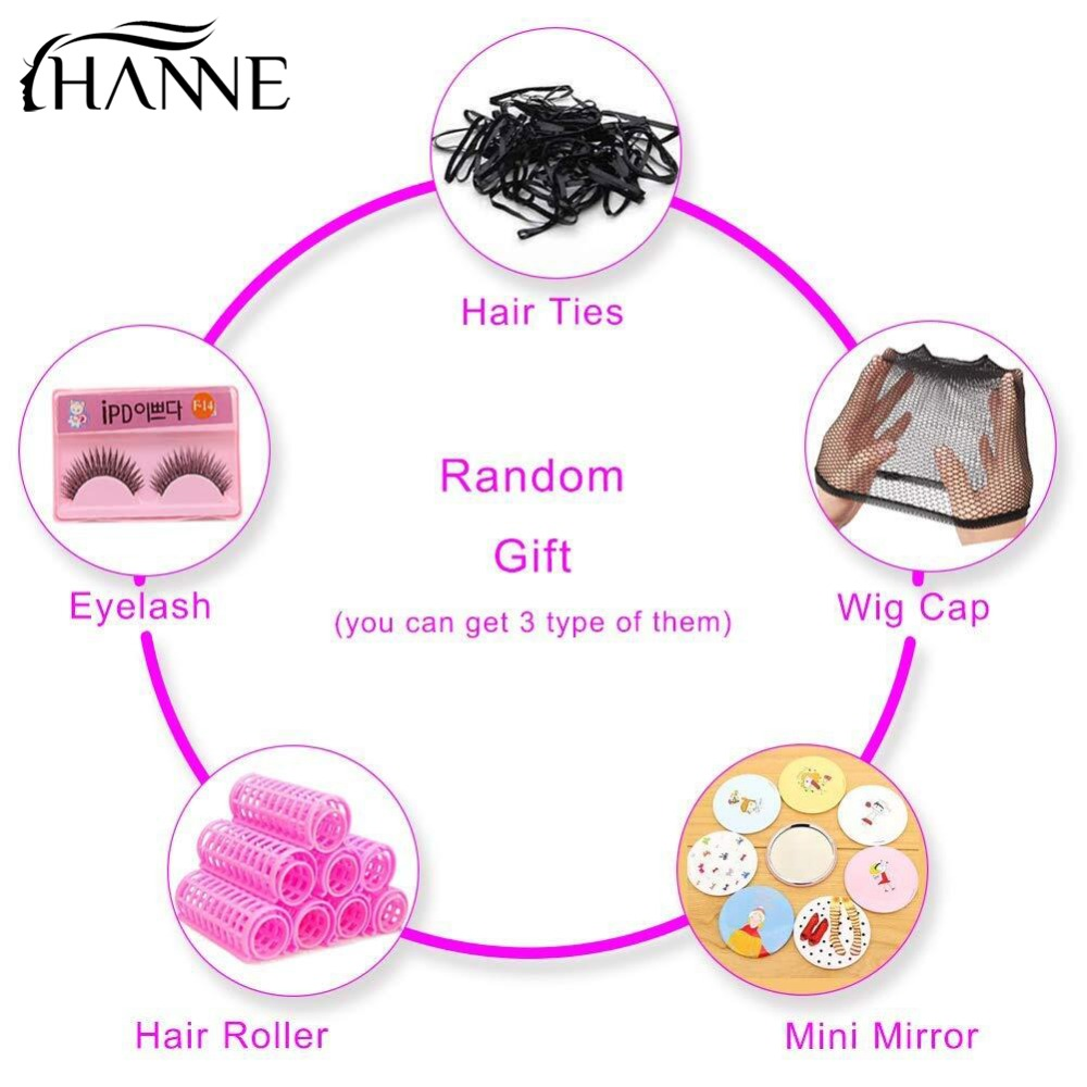 HANNE Lace Front Human Wig Rambut Hitam Wanita Natural Hitam Pra - Pasokan kecantikan - Foto 6
