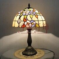 Новое поступление Мода деревенский настольная лампа Тиффани Спальня прикроватной тумбочке Гостиная для Спальня