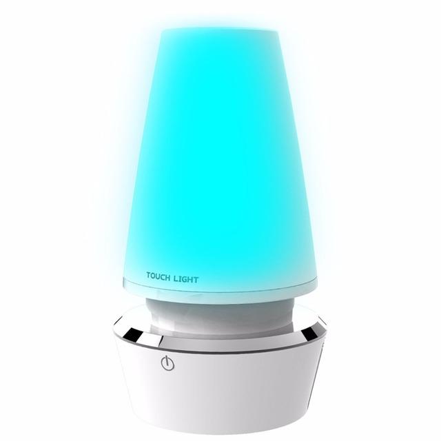 Controle de toque Romântico Colorido Mudança da Cor Modern Table Lamp LED USB Recarregável Luz Atmosfera Noite 2017 Top Venda