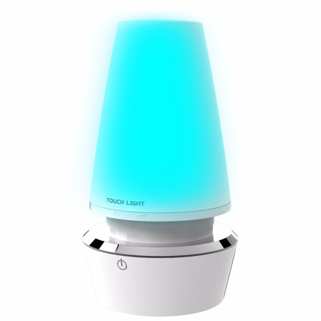 Touch Control Romantic Colorful Color Changing Modern LED Table Lamp USB Rechargeable Atmosphere Night Light 2017 Top Sale