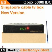 2PCS singapore cable box tv receiver blackbox starhub hd set top box qbox 5000hdc/QBOX 4000HDC/BlackBox 700HDC N3+wifi adapt(China)