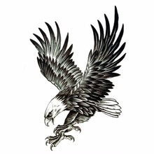 2Pcs Cool Eagle Tattoo For Men Waterproof Temporary Tattoos Water Transfer Stickers On The Body Fake Tatoo Sleeves Sex Products