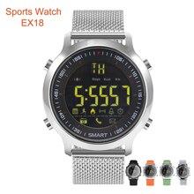 1 год спортивные часы EX18 трекер Шагомер Смарт Браслет 5ATM Водонепроницаемый вызова сообщение напоминание дистанционного Камера