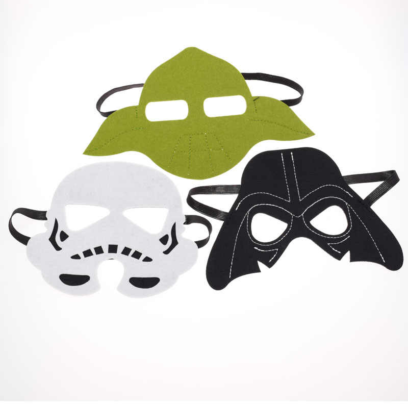 3pcs/set Star Wars Mask Darth Vader Yoda commando Superhero Halloween Costumes Cosplay Mask Kids Birthday Party DIY Christmas