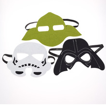 3pcs/set Star Wars Mask Darth Vader Yoda commando Superhero Halloween Costumes Cosplay Kids Birthday Party DIY Christmas