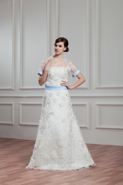 wedding dress fantasy with sleeves Floor length,Strapless simple ...