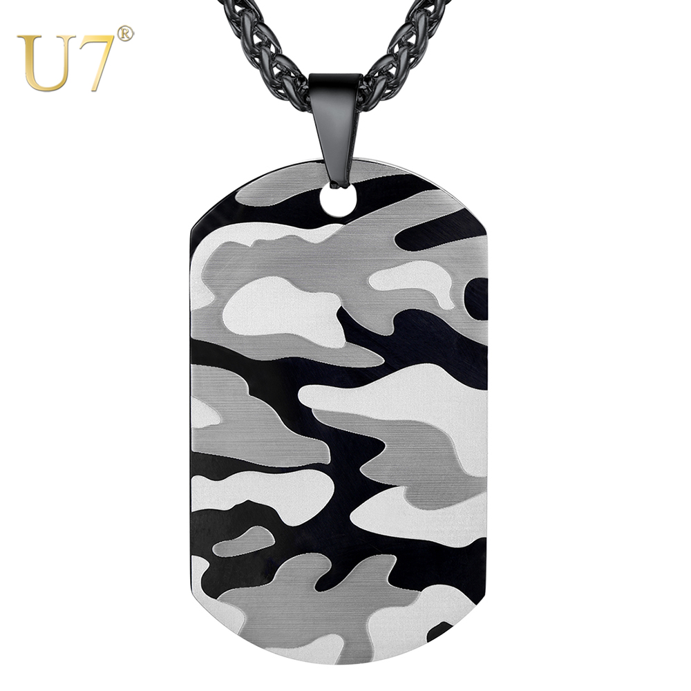 Terrific Us 18 0 50 Off U7 Camouflage Dog Tag Necklace For Men Stainless Steel Soldier Army Male Pendant Outdoor Sport Jewelry Gift Free Engraving N1129 In Download Free Architecture Designs Intelgarnamadebymaigaardcom
