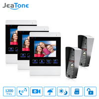 JeaTone Video Doorphone 1200TVL Doorbell Camera 4 Inch Indoor Monitor Unlocking Monitoring Picture Taking Home Security