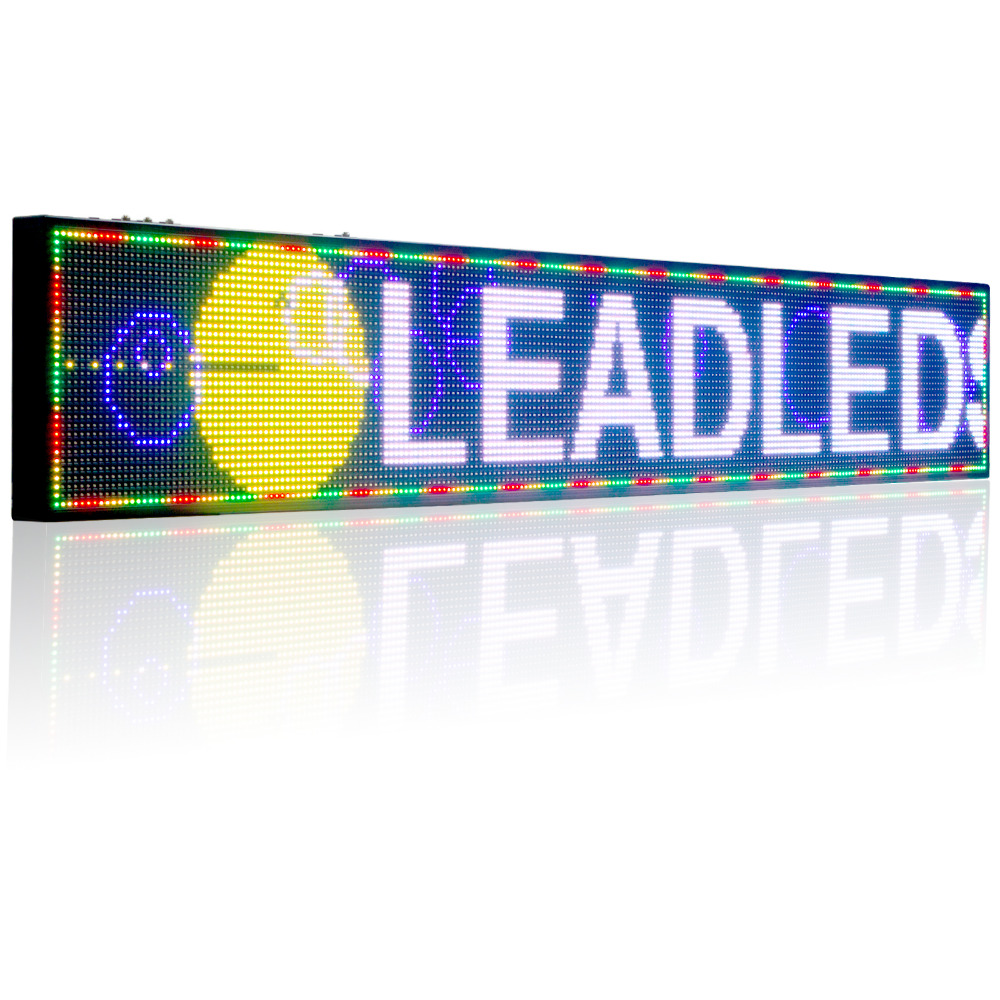 P10 SMD Full Color LED Sign Indoor Programmable Led Window Moving Message Led  Display Board