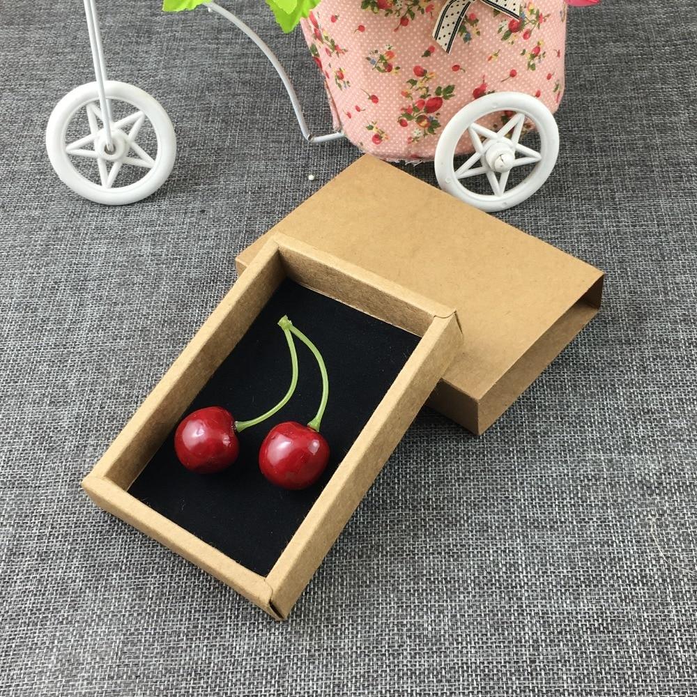 Alert 24pcs/lot 115*80*22mm Brown Paper Drawer Box Rown Kraft Paper Slide Box,craft Cardboard Box Home & Garden Festive & Party Supplies Paper Box Add Black Velvet