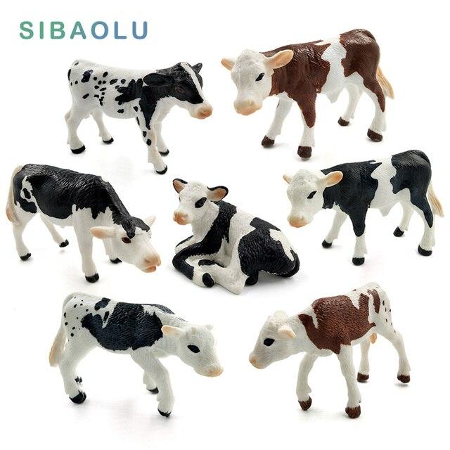 Farm Simulation milk Cow plastic Ox animal model Bonsai figurine home decor miniature fairy garden decoration accessories modern 1