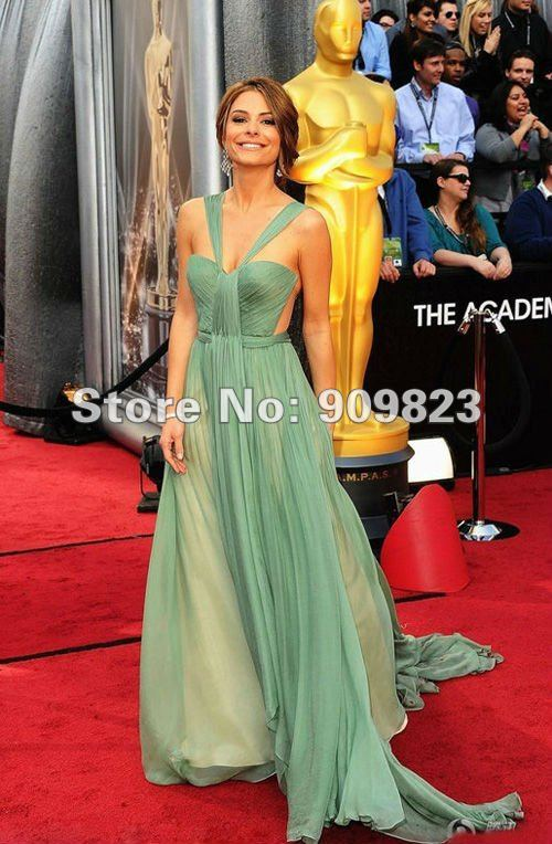 Oscar Awards Maria Menounos Halter A Line See Through Slit -5983