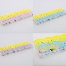14 Slots 7 Day Tablet Pill Storage Box Weekly novelty and lovely Medicine Organizer Container Case home neccessity new