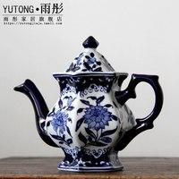Jingdezhen Porcelain Blue and White Porcelain Diamond Coffee Pot Teapot