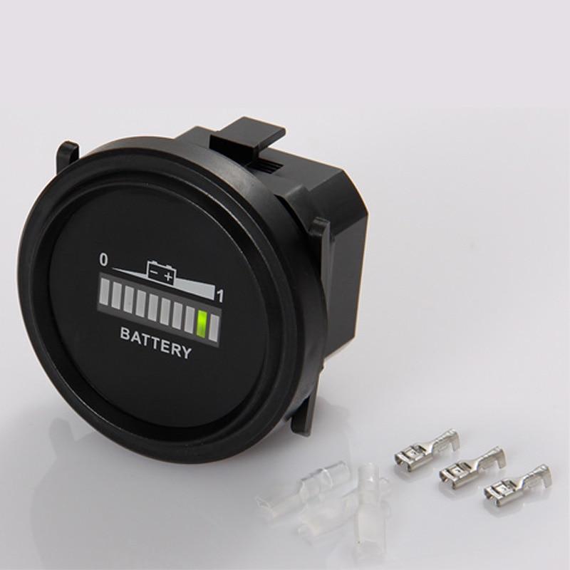 LCD plomb acide 12 V 24 V 36 V 48 V Capacité de la Batterie Indicateur Détecteur Tension meter