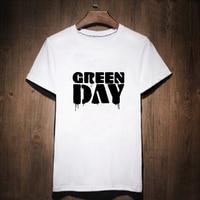 Gildan Yeşil Gün T-shirt Gotik T Gömlek Kadın Tee Sokak aşınma Kadın Mektubu Baskı Tshirt Punk Rock Elbise Kadın 2017 yaz