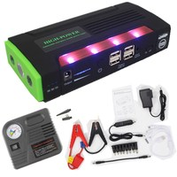 best selling Emergency car auto power bank external battery charger Muti-function jump starter with pump 4 USB
