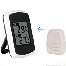 Best price 433MHz  Wireless Weather Station with Digital Large Dispaly  Indoor Outdoor Temperature Thermometer Include Wireless Sensor