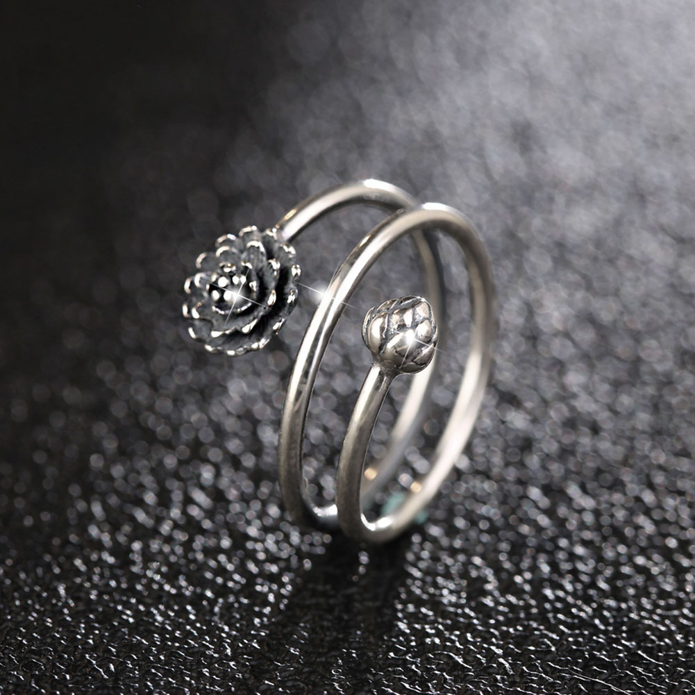 Women's Multilayer Style Lotus Ring 3
