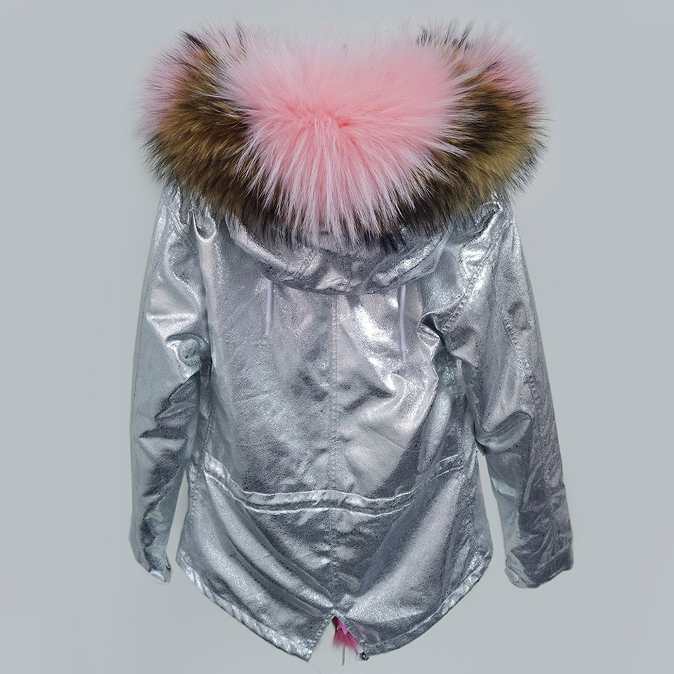 Parkas Col New Parka De color Raton Color Fourrure Femmes Renard 2017 Laveur Hiver Réel color Veste Doublure 2 color 3 color 4 Capuche Chaude Court Épaisse Naturel color 1 6 5 Manteau 7HcdqY
