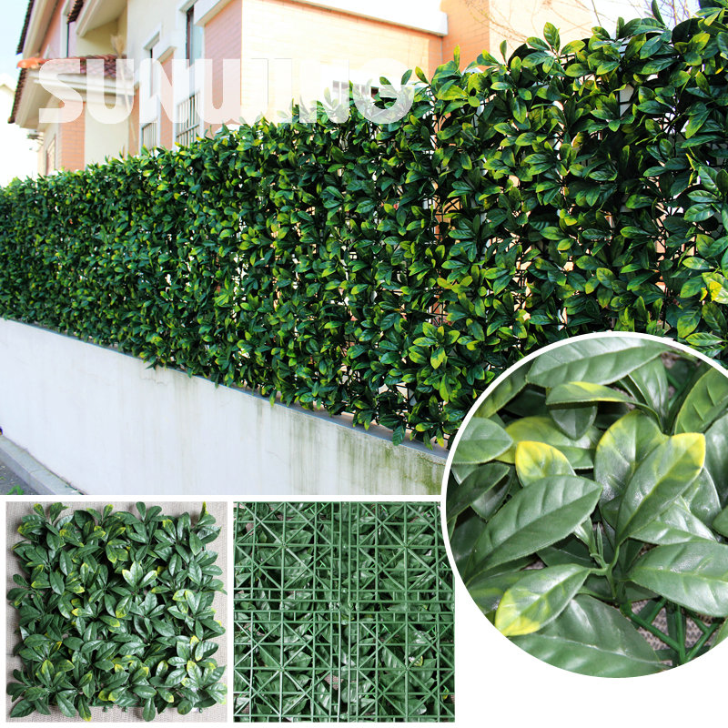 24pcs 25x50cm Decorative Artificial Gr Plants Fence Plastic Buxus Boxwood Hedges Panels Ivy Wall Garden Diy Ornaments In Buildings From